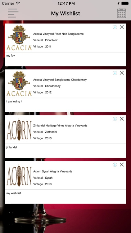 Vyhnes Winery Wine Tasting Guide screenshot-3