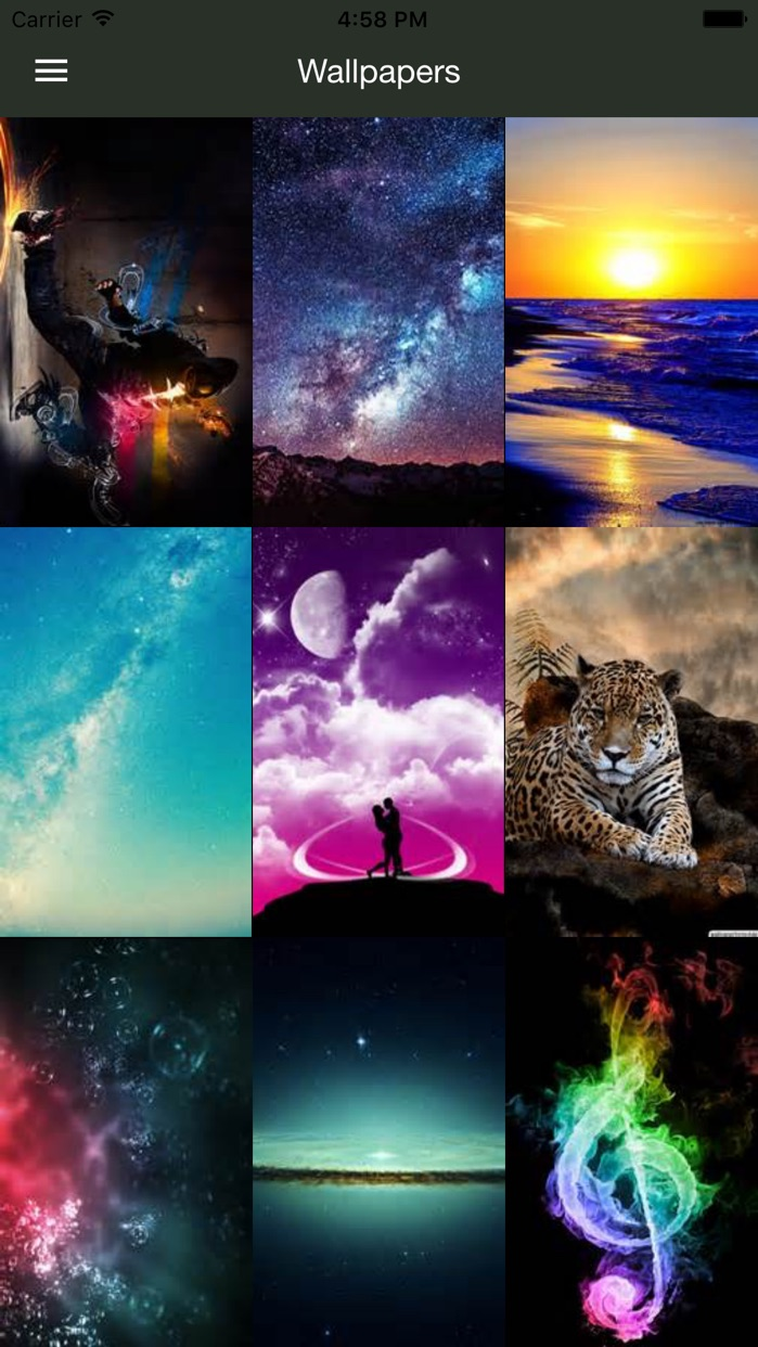 HD Wallpapers for iPhone, iPod and iPad Screenshot
