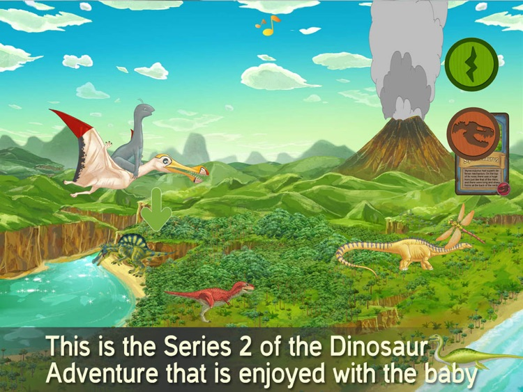 The Series 2 of the Dinosaur  with baby dino Coco screenshot-0