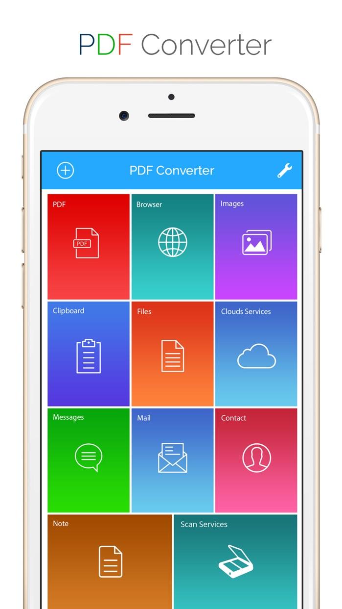 PDF Converter - Convert documents, WebPages TO PDF Screenshot