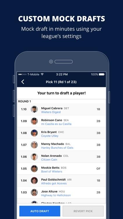 Fantasy Baseball Draft Wizard by Fantasy Pros
