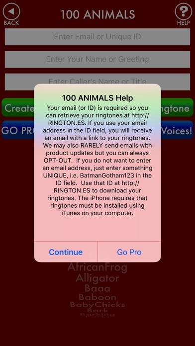 100ANIMALS + RINGTONES Animal Ring Tone Soundsのおすすめ画像3