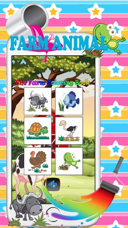 Farm animal pait : coloring pages for girls & boys screenshot-3