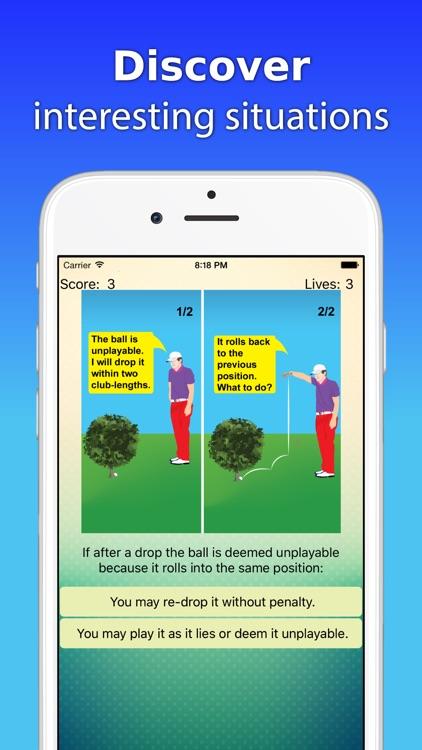 Illustrated Golf Rules Quiz screenshot-0