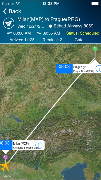 Milan-Malpensa Airport Pro (MXP) + Flight Tracker screenshot-2
