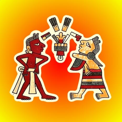 Aztecs Painting Stickers