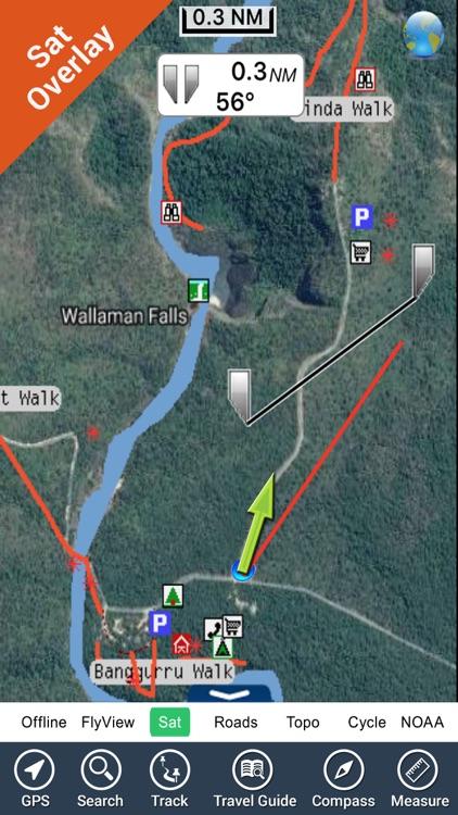 Wallaman Falls NP HD GPS charts Navigator