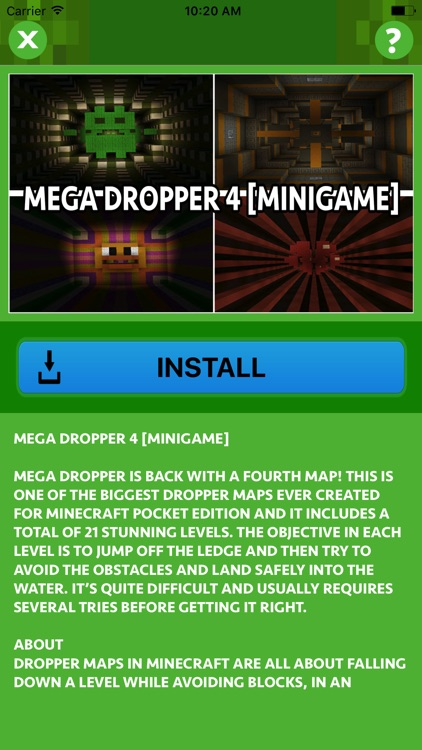 MEGA DROPPER MINIGAME MAPS FOR MINECRAFT PE by Hoai Trinh Thi Le on