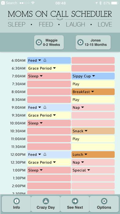 Moms On Call Scheduler app image
