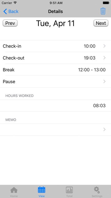 TimeSheet - IS - screenshot-3