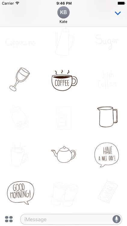 Animated Cute Coffee Stickers screenshot-3