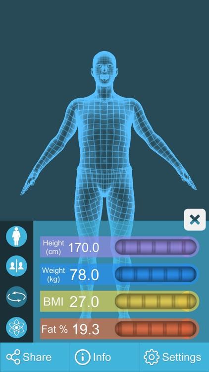 BMI 3D Pro (3D Body Mass Index calculator) screenshot-4