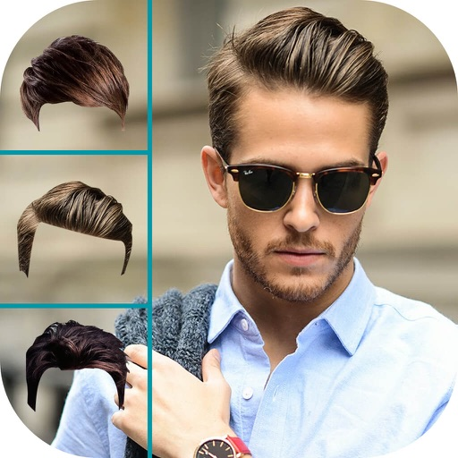 Pleasant Men Hairstyle Changer Man Hair Style Photo Booth By Chirag Pipaliya Short Hairstyles Gunalazisus
