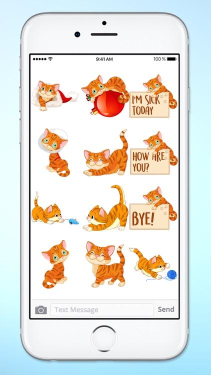 Cute Kitten Messages Sticker Pack screenshot-4