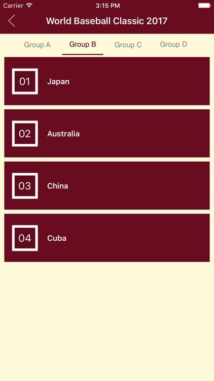 Schedule of WBC 2017