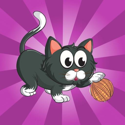Kitty Rolling Yarn - kitty rolls yarn ball iOS App