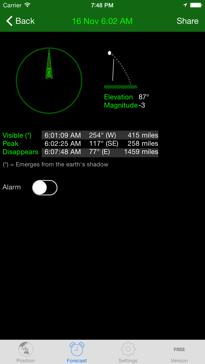 ISS Spotter Screenshot