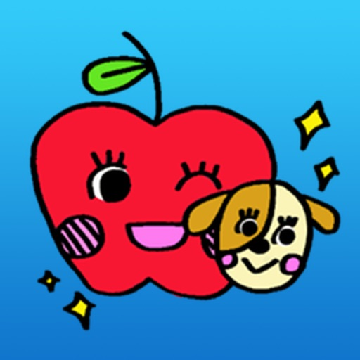 Happy Apple Emoji Sticker
