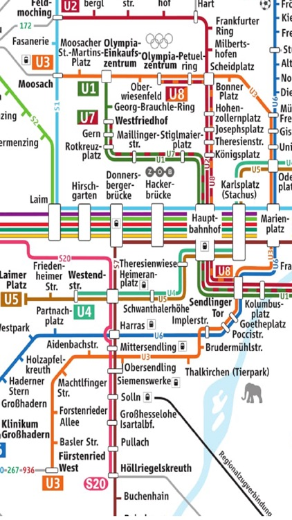 Munich U SBahn Metro Bus Map Schedule by Janice Ong