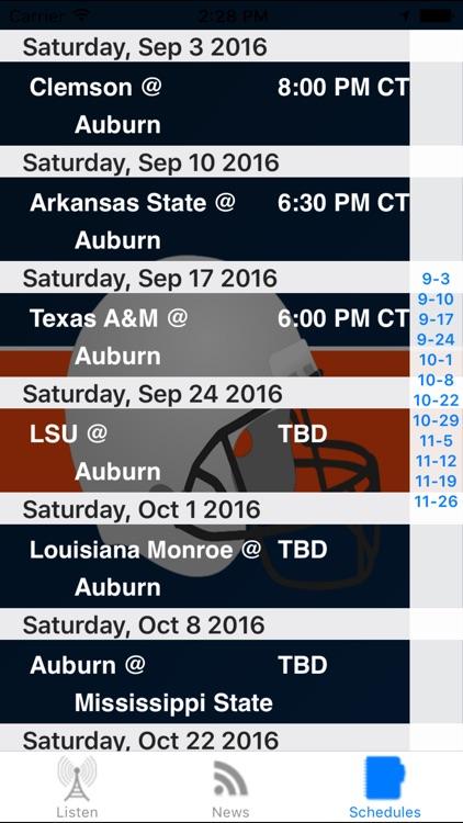 Auburn Football - Sports Radio, Schedule & News screenshot-3
