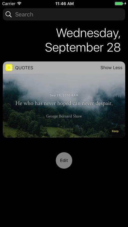 Quotes in Widget screenshot-0