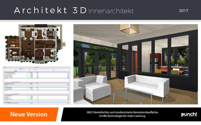 architekt 3d innenarchitekt 2017 im mac app store. Black Bedroom Furniture Sets. Home Design Ideas