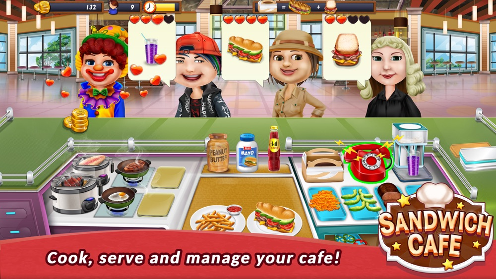 Sandwich Cafe Game – Cook delicious sandwiches! hack tool