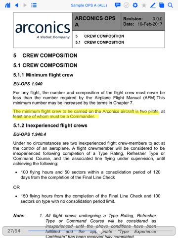 AeroDocs Crew App - náhled