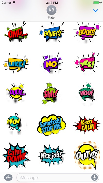 Comic Pop Art Stickers screenshot-3