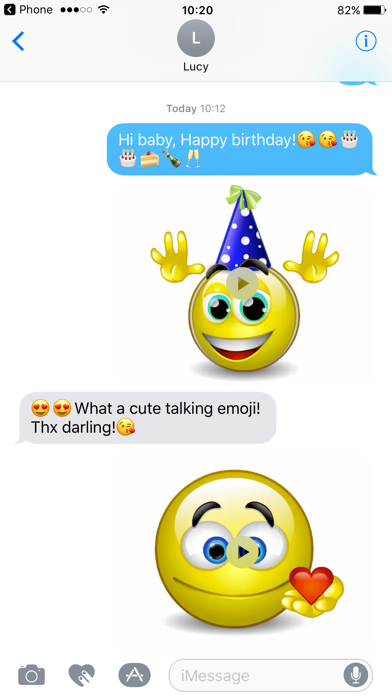 Talking Emoji & Speaking Emoticons Icons Pro Screenshot