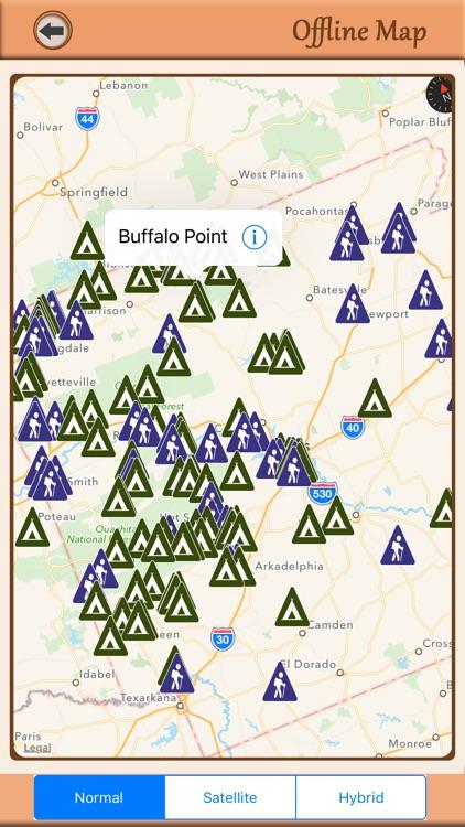 Arkansas Campgrounds & Hiking Trails Offline Guide screenshot-4