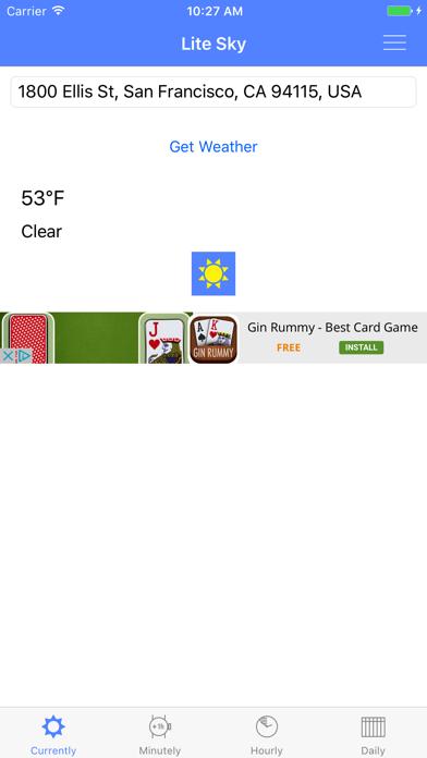 Lite Sky - Weather Fast screenshot one