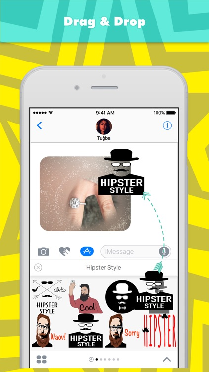 Hipster Style stickers by Tuğba