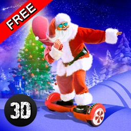 Christmas Santa Run: Hoverboard Simulator 3D