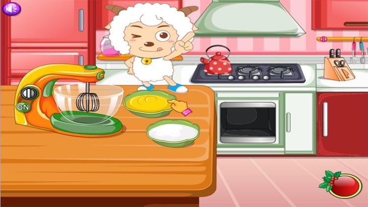 美羊羊做蛋糕