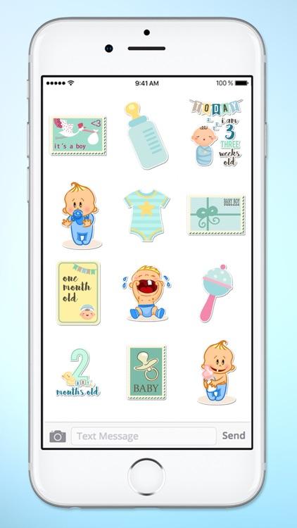 Its A Boy New Baby Sticker Pack screenshot-3