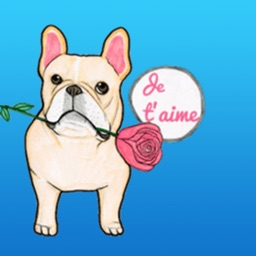 Romantic French Bulldog Sticker