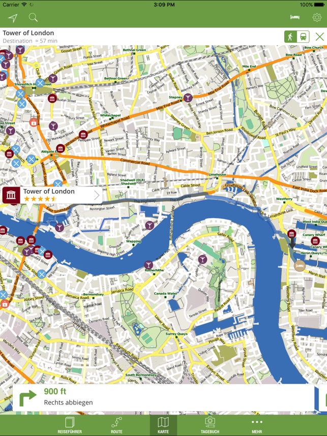 London Reiseführer (mit Offline Stadtplan) - mTrip Screenshot