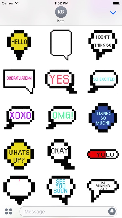 Animated Pixel Messages Stickers