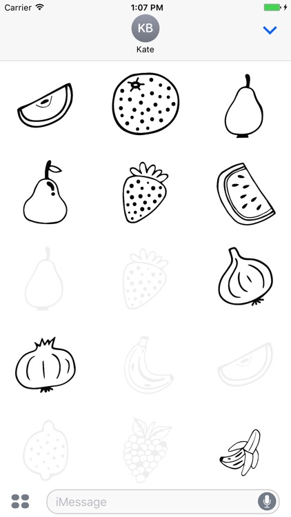 Animated Cute Fruit Stickers
