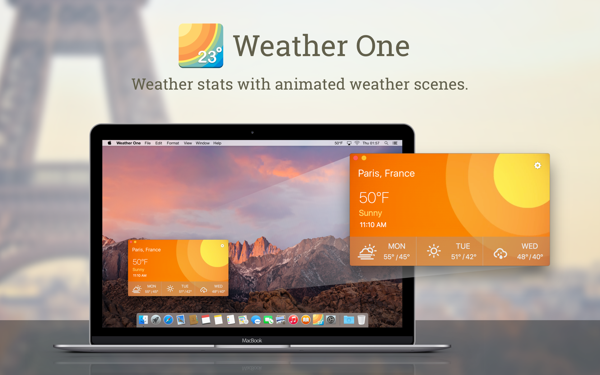 ‎Weather One on the Mac App Store