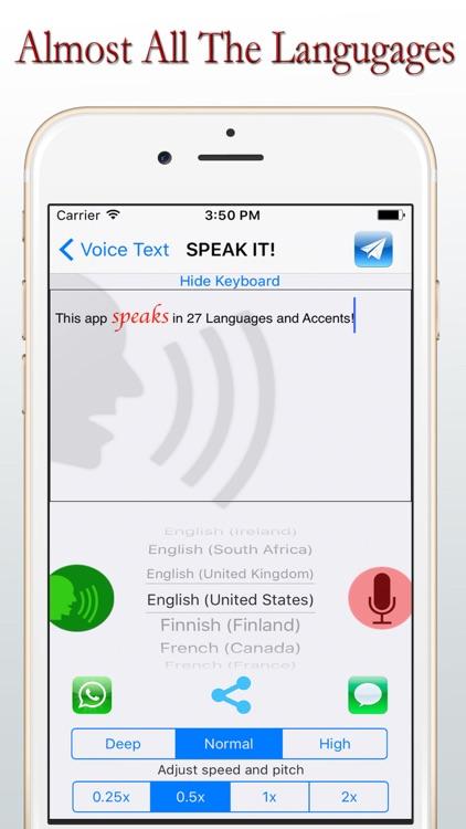 Voice Texts - LIVE - Lite screenshot-0