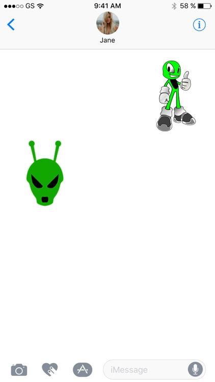 More Aliens Three Sticker Pack