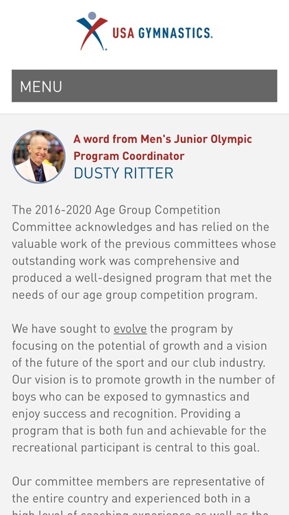 USA Gymnastics Men's Junior Olympic Age Group