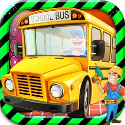 School Bus Mechanic Simulator Workshop Factory 2D