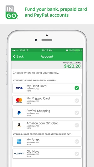 iphone screenshots - Prepaid Cards With Mobile Deposit