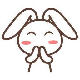 Adorable Rabbit Animated Emoji Stickers
