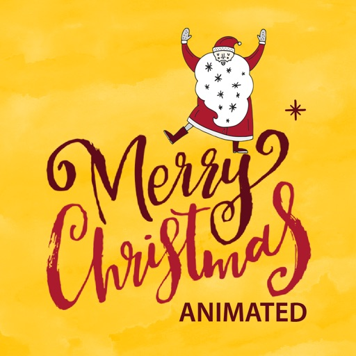 Animated Christmas Greetings for iMessage Stickers