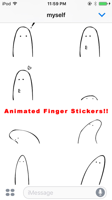Finger Animated Stickers