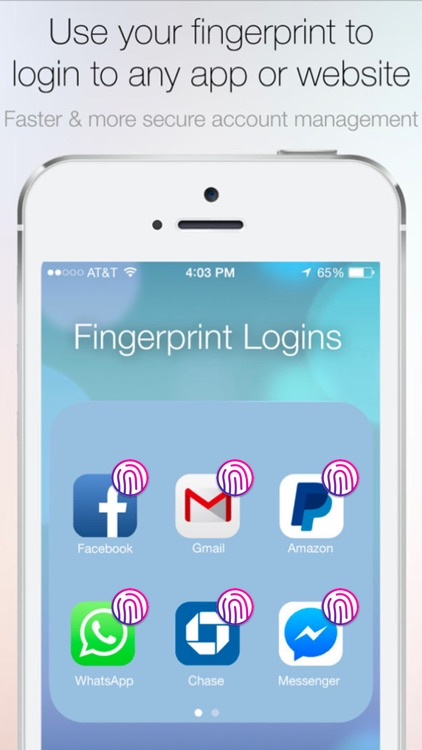 how to get a fingerprint lock on ipad